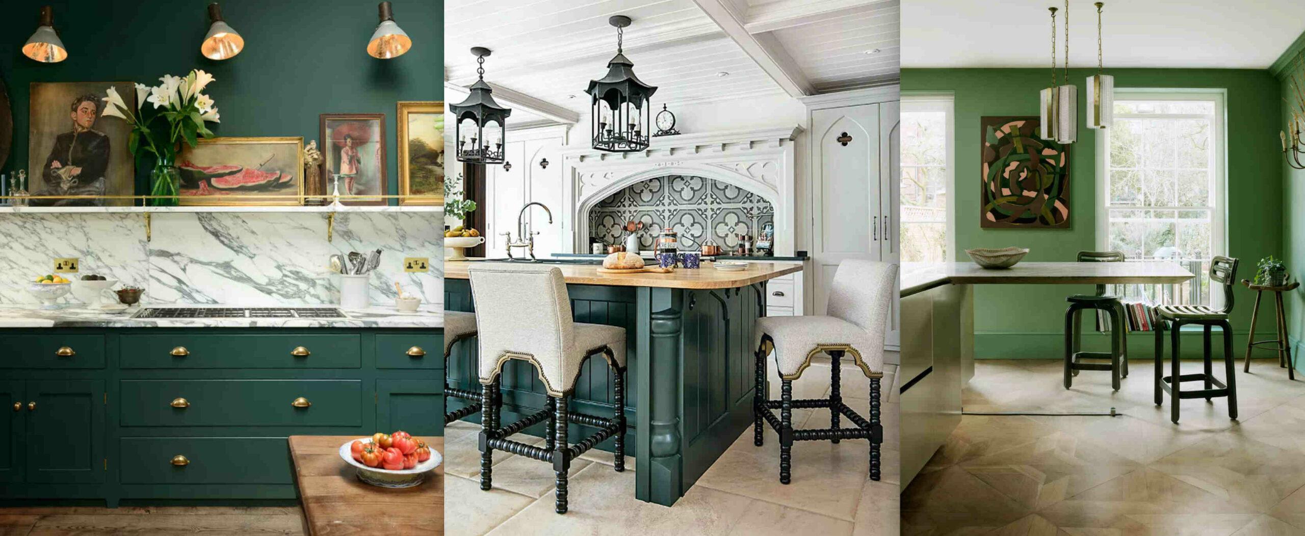 Quelle couleur de mur pour une cuisine verte ?