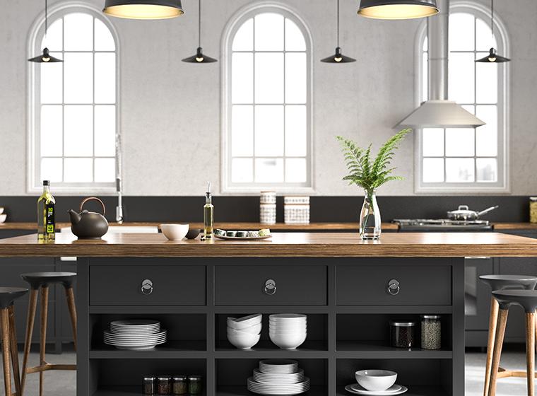 Quelle couleur de peinture pour une cuisine blanche et noire ?